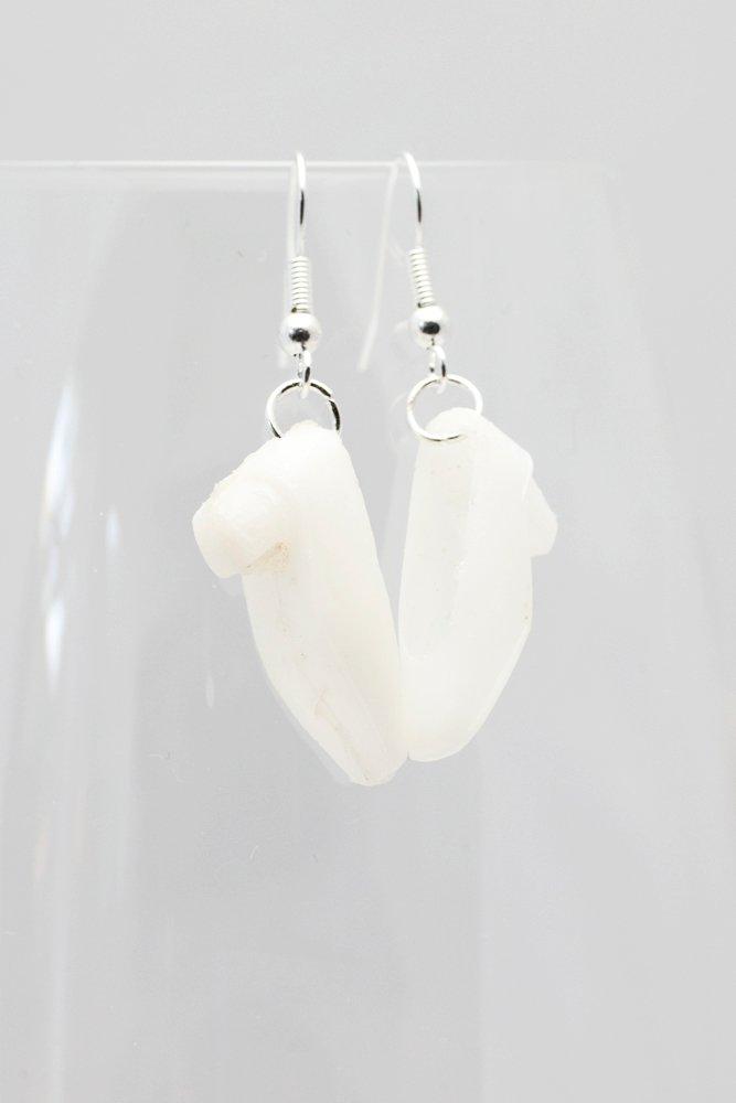 Högklackat i vitt, örhängen