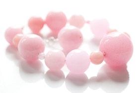 Rosa pärlarmband