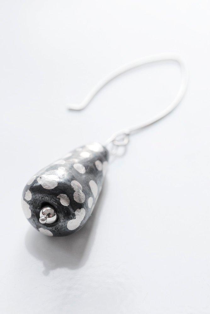 Oxiderad silverpälra, örhänge
