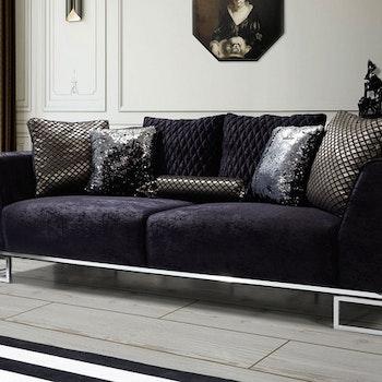 Black Lux 3-Sits
