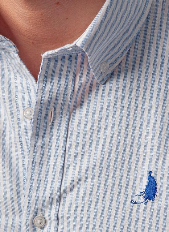 Oxford shirt - Blue stripes Le Cannet