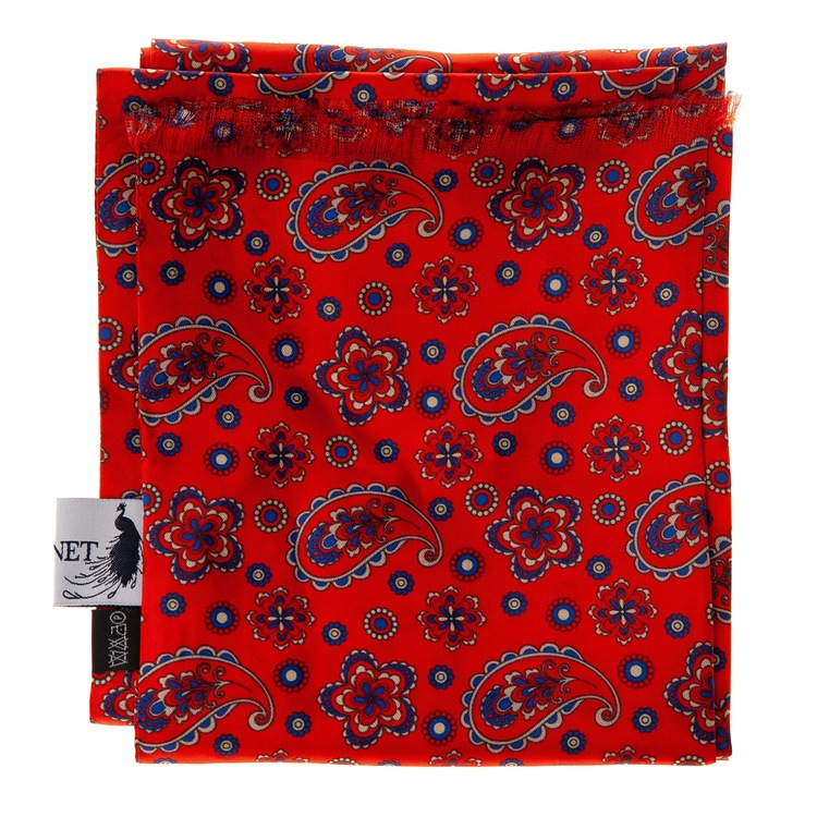 Le Cannet Scarf - Red Paisley