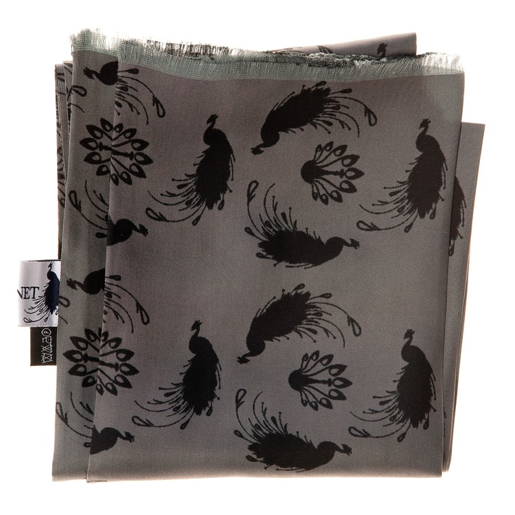 Le Cannet Scarf - Black Peacock