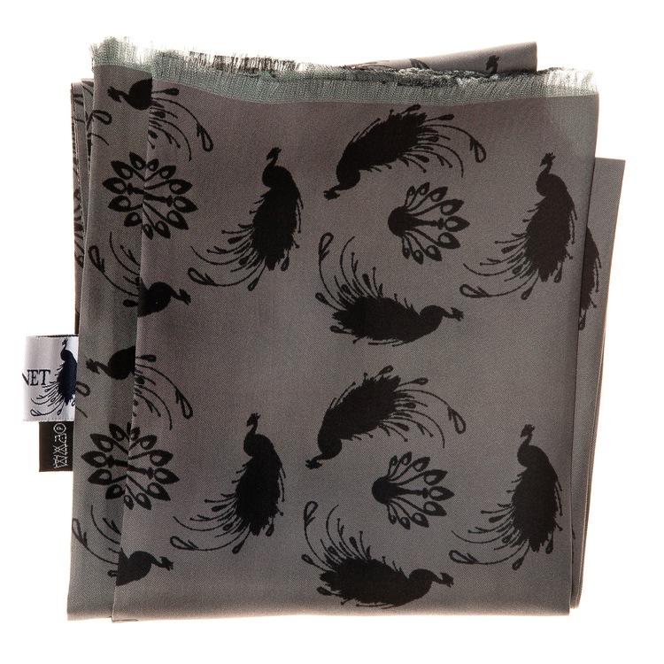 Scarf stilfull, grå, svart, till fest, kvalitet, herrscarves