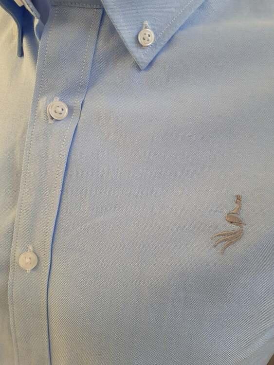 Oxford shirt kortärm  - Skyblue Le Cannet