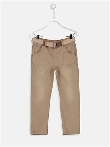 Jeans med bälte