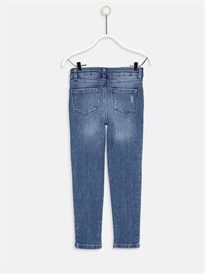 Jeans med paljetter