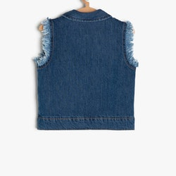 Jeansväst i bomull