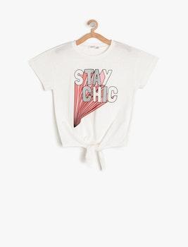 T-shirt med knyt