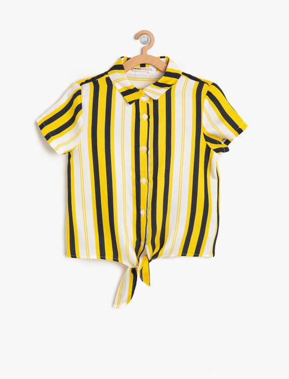 Skjorta med knyt