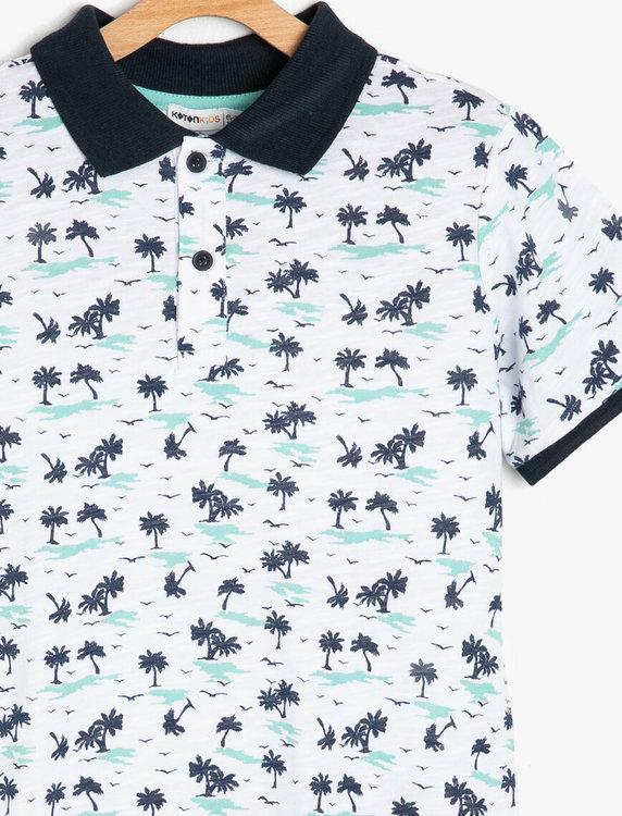 T-shirt i bomullstrikå