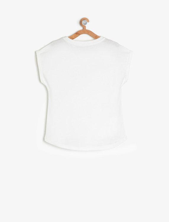 T-shirt med paljetter