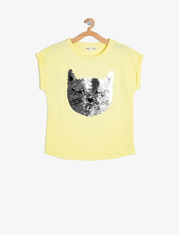 T shirt med vändbara paljetter Moms & Kids Store