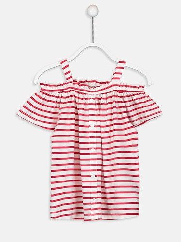 T-shirt randig bomull