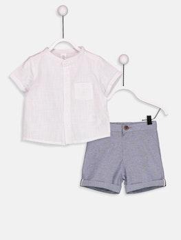 Tröja och shorts i bomull