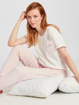 Mönstrad Bomull Pyjamas