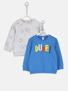 2-pack Sweatshirt med tryck