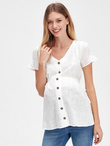 Bomull Gravid skjorta