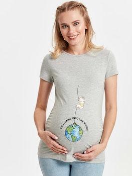 Gravid T-shirt med tryck