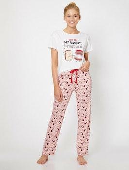 Mönstrad pyjamas i bomull