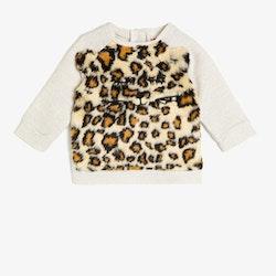 Sweatshirt med leopardtryck