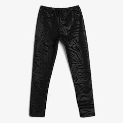 Svarta leggings i läderimitation