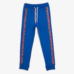 Blå sweatpants med tryck
