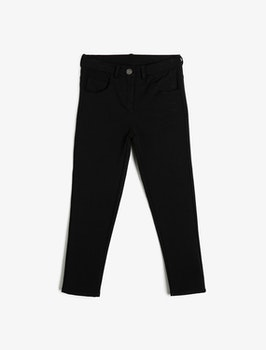 Svarta slim fit high waist byxa
