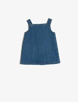 Hängselklänning i bomull