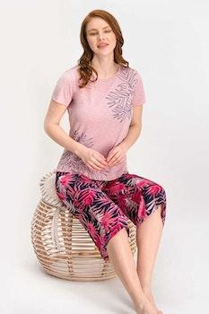 Pyjamas med topp och bermudashorts
