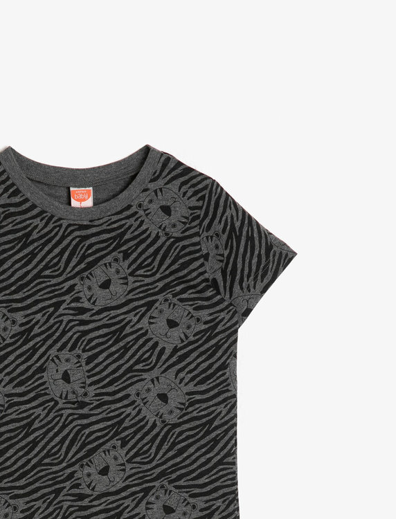 Mönstrad t-shirt