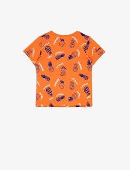 Mönstrad t-shirt i bomull