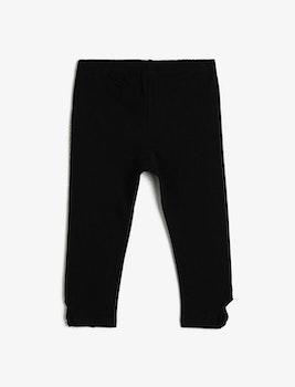 Svarta trekvartslånga leggings