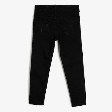 Svarta slim fit high waist-jeans