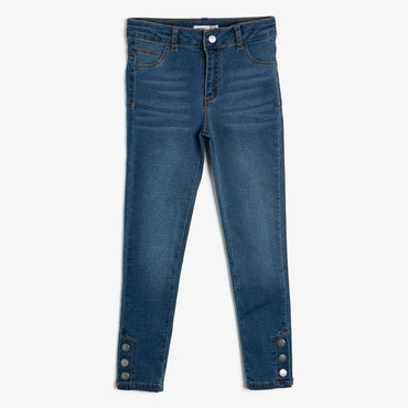 Slim fit high waist-jeans