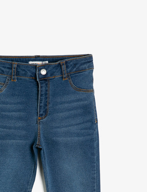 Slim fit high waist-jeans