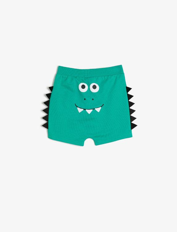 Shorts med applikation baktill