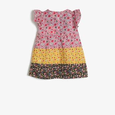 Mönstrad klänning i bomull