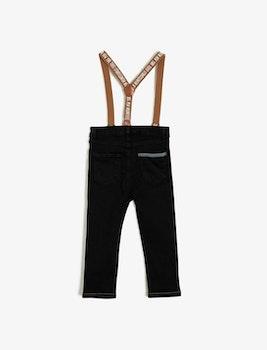 Jeans med hängslen