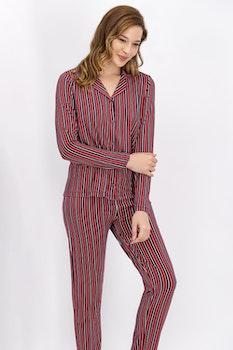 Pyjamasset med skjorta och långbyxor