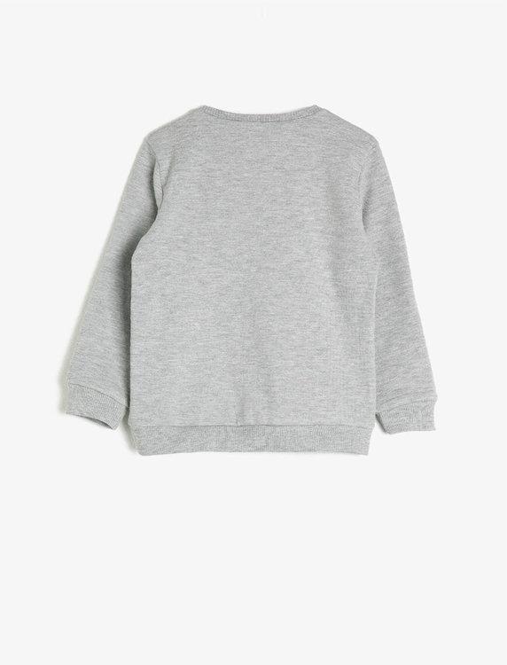 Sweatshirt med vändbara paljetter