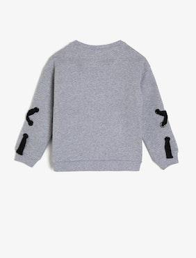 Sweatshirt med motiv