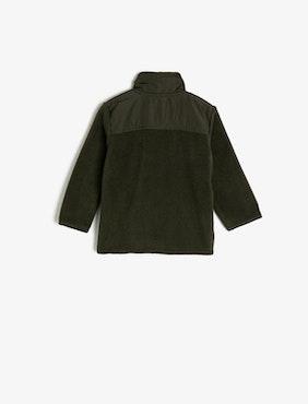 Sweatshirt med dragkedja