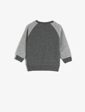 Sweatshirt med applikation