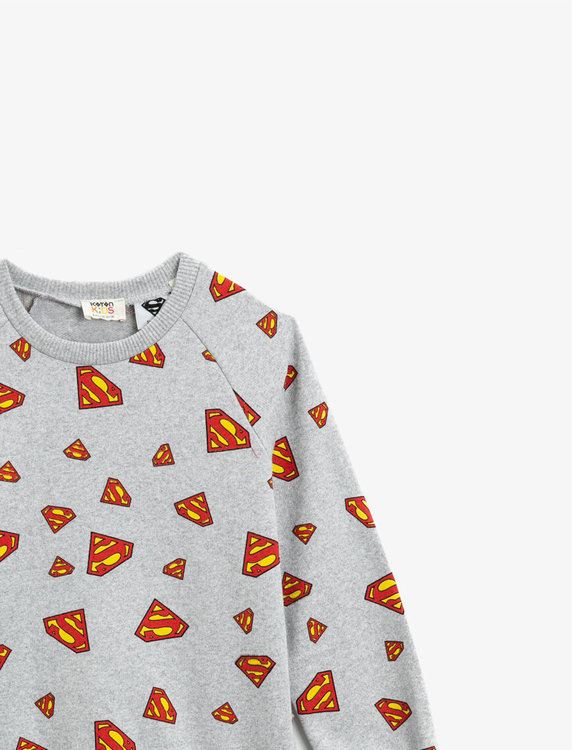 Superman Mönstrad sweatshirt