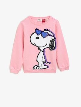 Snoopy Sweatshirt med vändbara paljetter