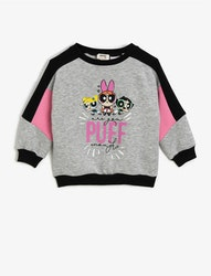 PowerPuff Sweatshirt med tryck