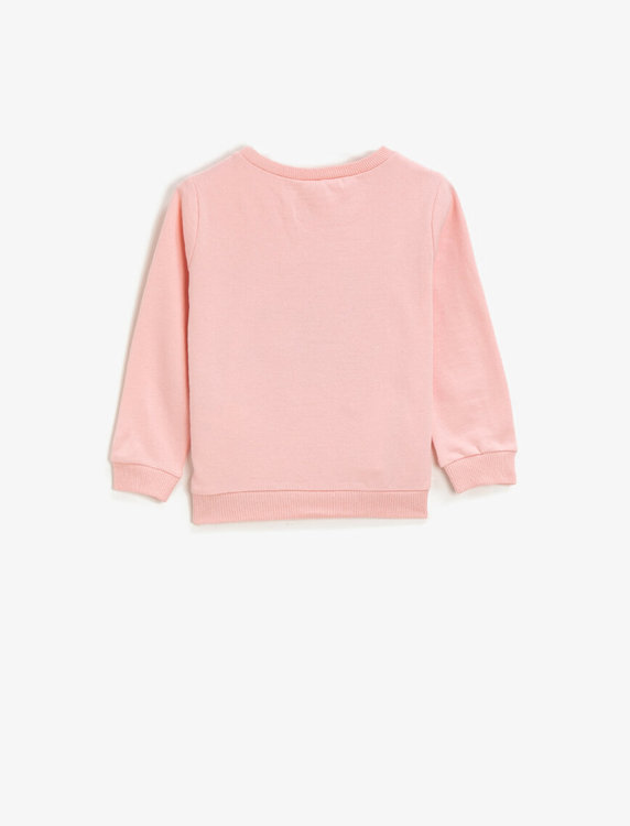 Sweatshirt med paljetter
