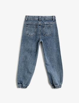 Narrow fit high waist jeans