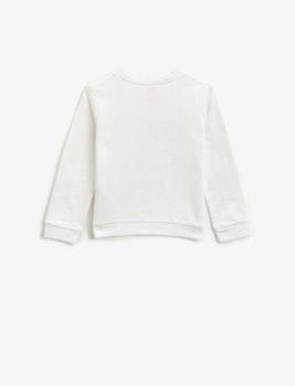 Sweatshirt med tryck